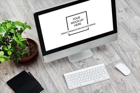 Mac Clean Style Dektop Mockup