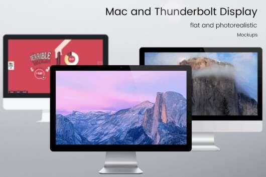 Mac and Thunderbolt Display Mock ups