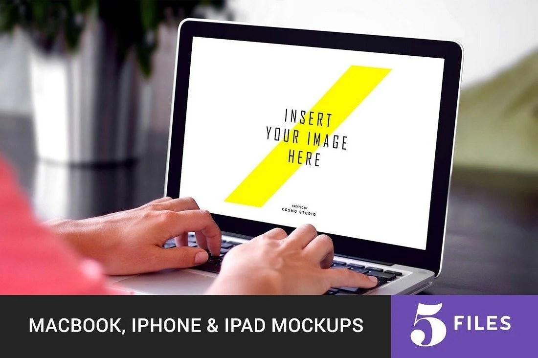 100+ MacBook PSD & Vector Mockups 47