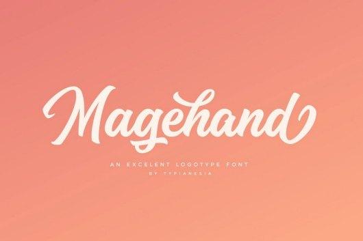 Magehand - Logo Font