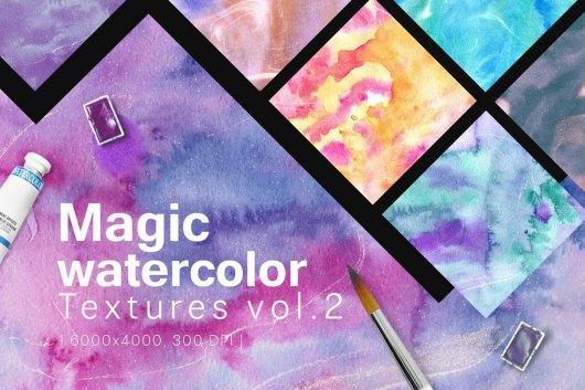 Magic Watercolor Textures Vol. 2