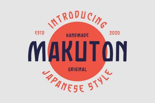 Makuton - Japanese-Style Vintage Font