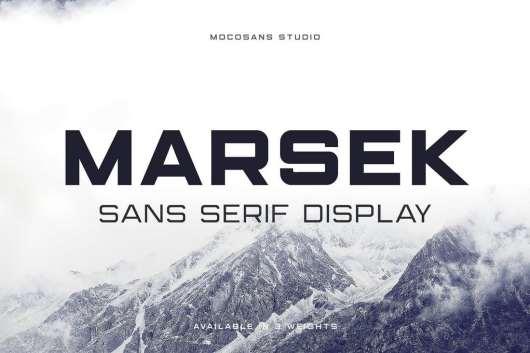 Marsek Display Sans Serif