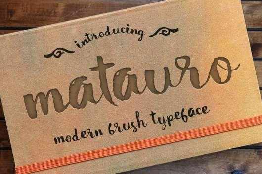 Matauro Modern Brush Font
