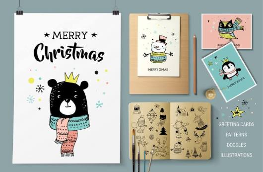 merry-christmas-greetings-doodles