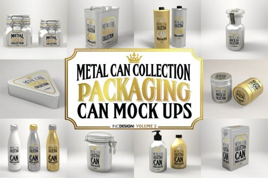Metal Can Mockup Collection