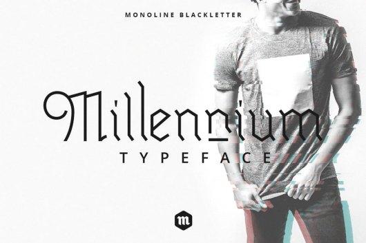 Millennium Blackletter Gothic Font