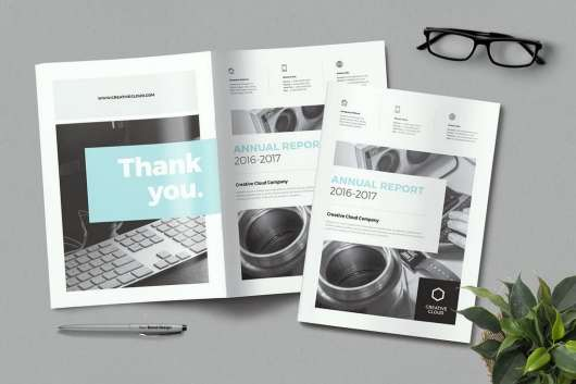 Minimal Annual Report Template