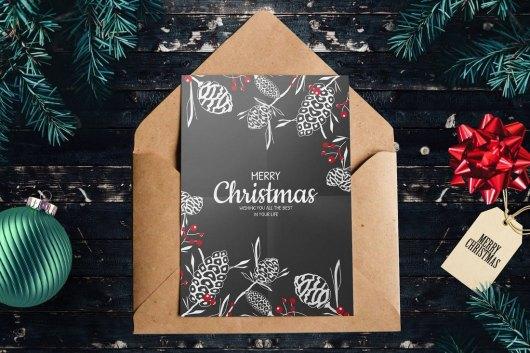 Minimal Christmas Card Template