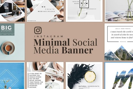 Minimal Instagram Banner Templates Kit