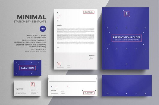 Minimal Modern Stationery Template