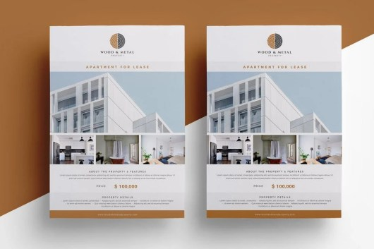 Minimal Real Estate Flyer Template