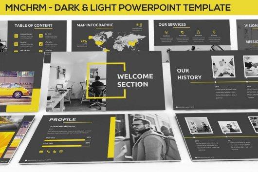 Mnchrm - Dark & Light Powerpoint Template