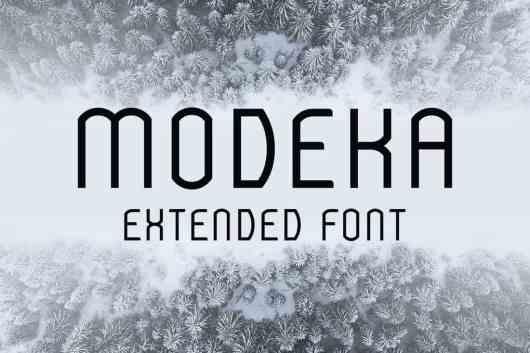 Modeka - Minimal Extended Font
