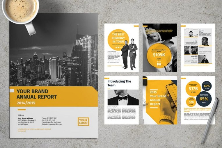 20 Annual Report Templates Word Indesign 2019
