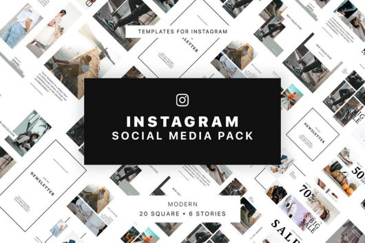Modern Instagram Post & Story Templates
