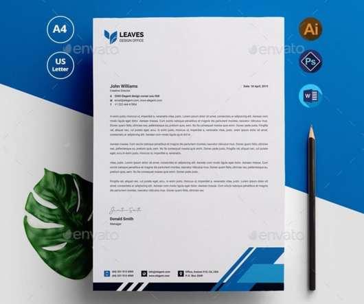 Modern Letterhead Template (PSD & Docx)