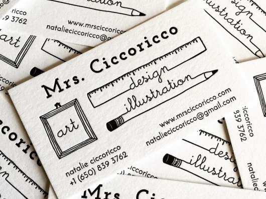 Modern Letterpress Bussiness Card