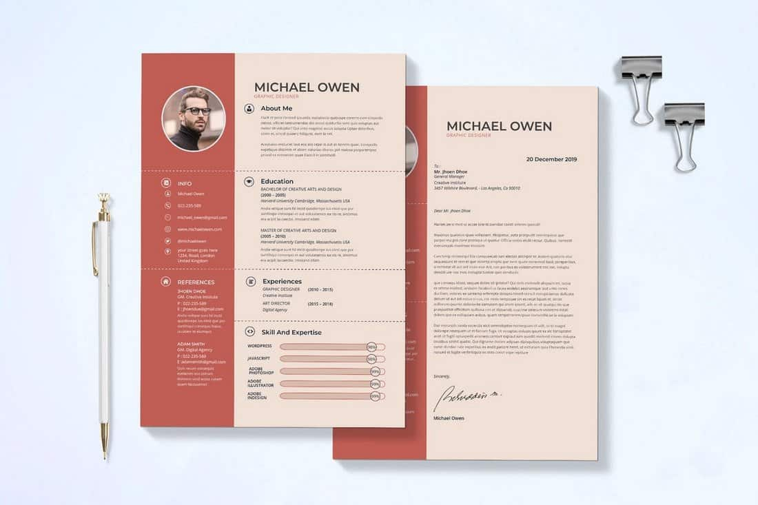 Top rated features which make the backbone of these templates are the responsive designs coupled with usable font sets. 50 Best Cv Resume Templates 2021 Design Shack
