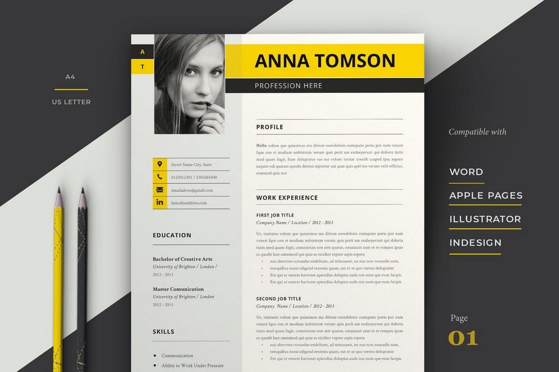 Easily edit the typography, wording, text colors icons and layout. 35 Best Pages Resume Cv Templates 2021 Design Shack
