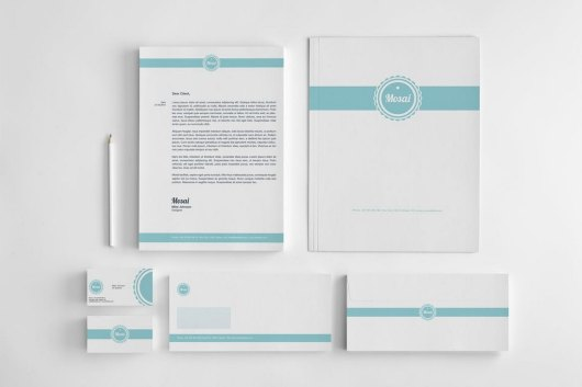 Mosai - Minimal Stationary Corporate Identity