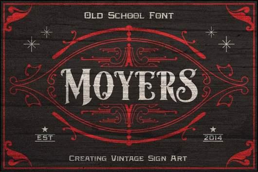 Moyers - Vintage Tattoo Font
