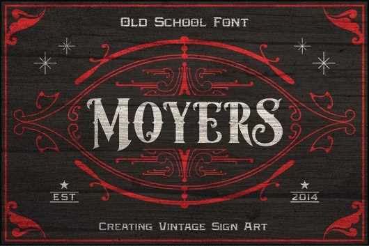 Moyers - Vintage Tattoo Font