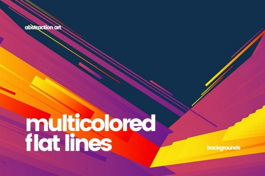 Multicolored Lines Rainbow Backgrounds