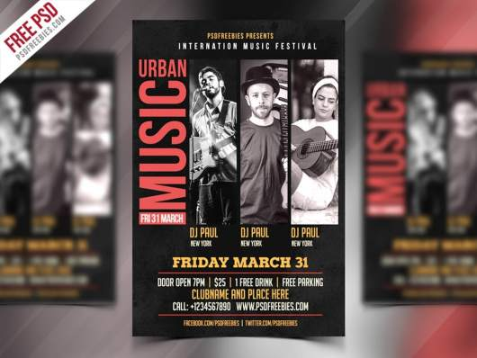 Music Event Flyer & Poster Template