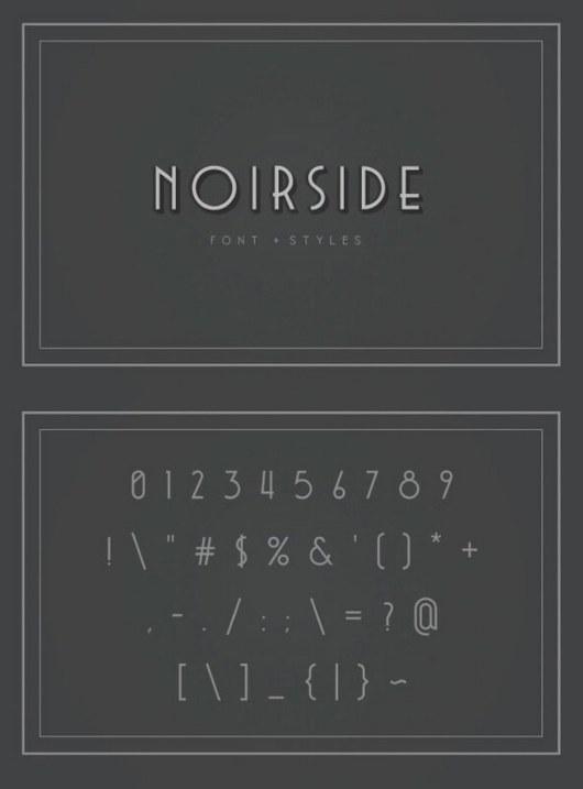 Noirside Typeface