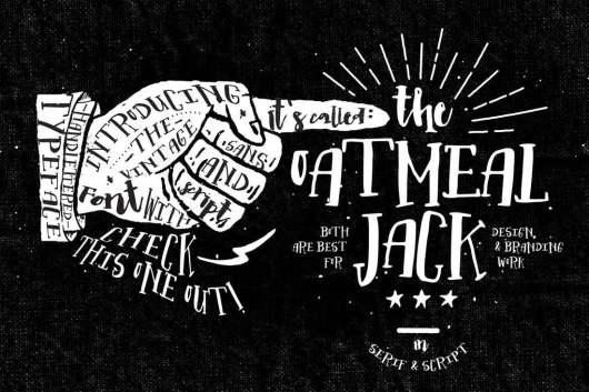 Oatmeal Jack - Creative Font
