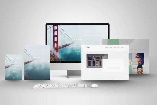 PSD Web Showcase Mockup