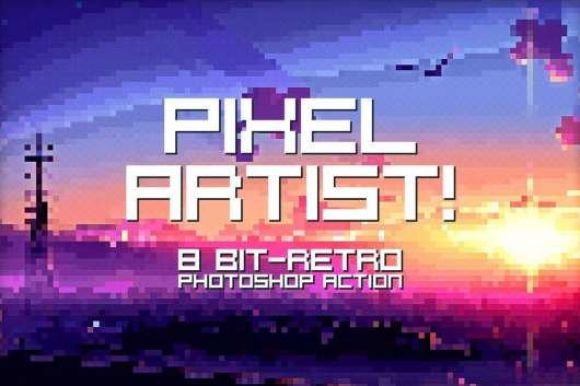 Pixel Artist - Photoshop Action