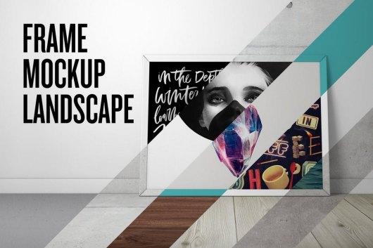 Poster Frame Mockup - Landscape