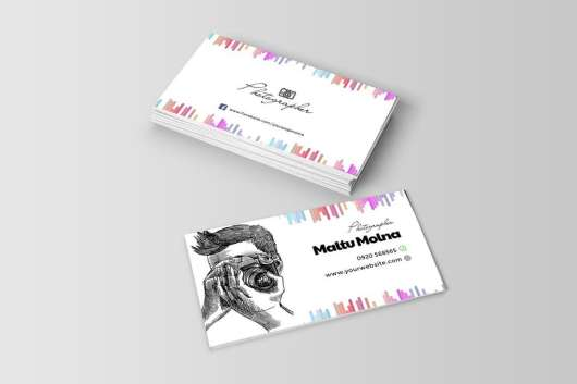 Professional Photographer Visiting Card