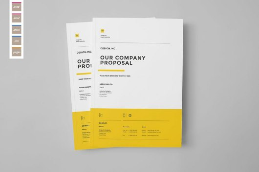 Proposal and Portfolio Word Brochure Template