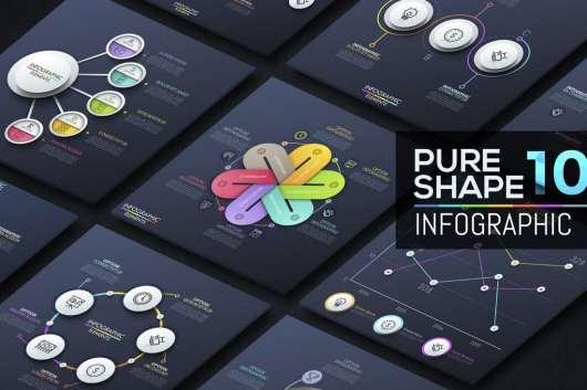 Pure Shape Infographic v10