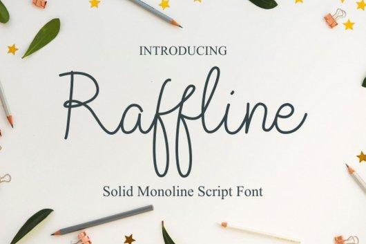 Raffline - Monoline Script
