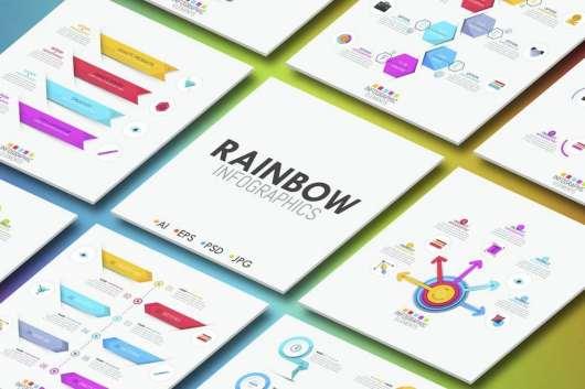 Rainbow Infographics