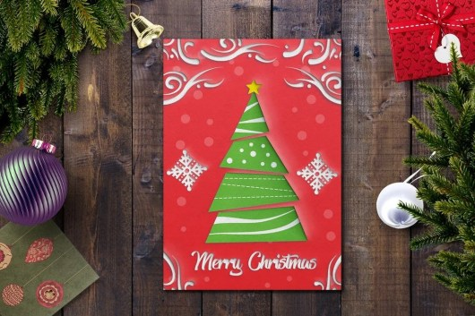 Red Christmas Card Template