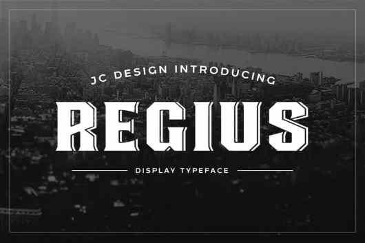 Regius - Creative Display Font