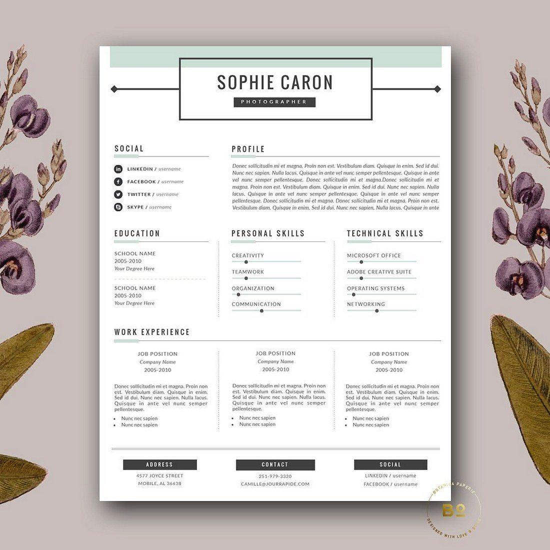 20+ Best Pages Resume & CV Templates | Design Shack