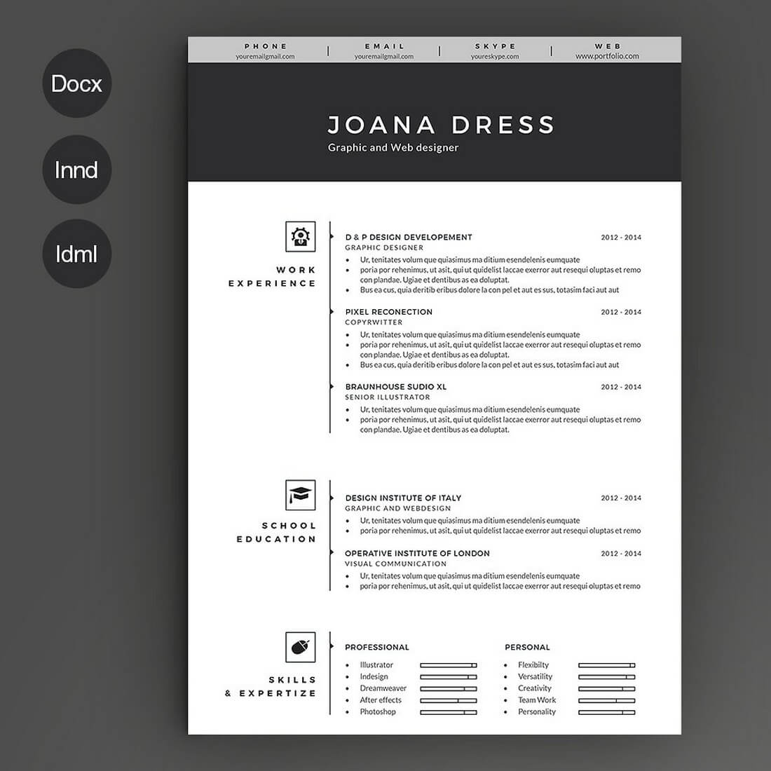 Resume Templates Illustrator 50 43 Best Cv And Resume Templates Of 2019 Design Shack