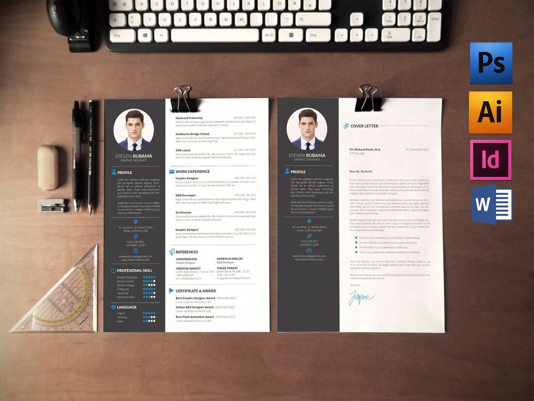 50 Best CV & Resume Templates Of 2019 Design Shack