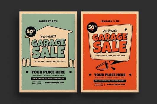 Retro Garage Sale Event Flyer
