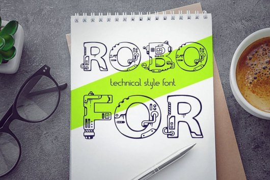 Robofor - Mechanical Engineering Font