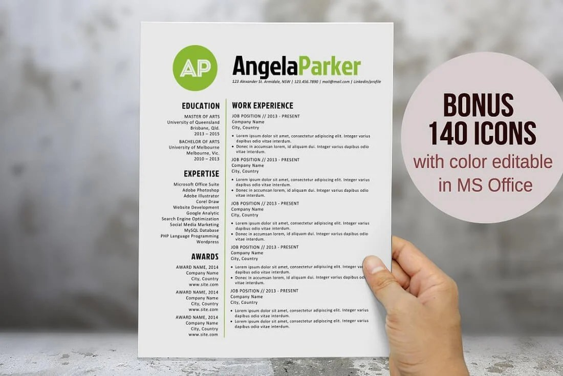 Free Resume Word Template Free Modern Resume Templates For Microsoft Word Koran Sticken Co