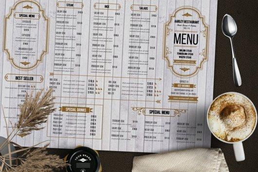 Rustic Food and Drink Menu Template