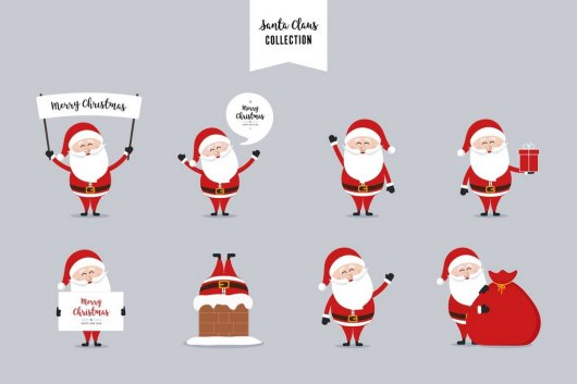 Santa Claus - Christmas Vector Collection
