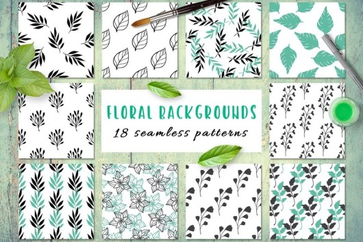 Seamless Floral Pattern Backgrounds